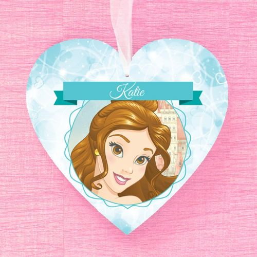 Belle Personalised Hanging Heart